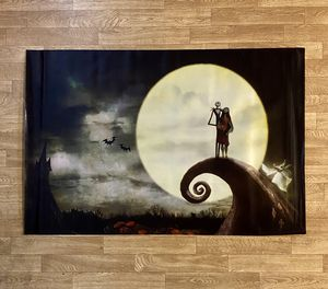"Nightmare before Christmas Fabric Poster - Jack & Sally - 36"" X 24"" - Mint Condition for Sale in Seattle, WA"