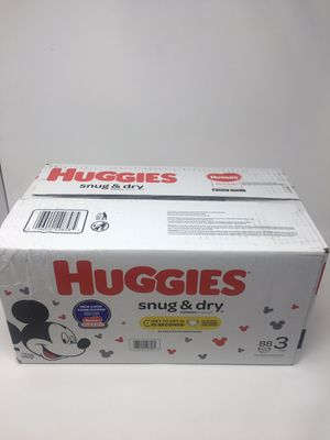 Huggies Snug and Dry Diapers Size 3 88 Count New sealed for Sale in Cumming, GA
