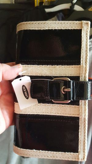 New old Navy black patent with cream trim wallet for Sale in Plano, IL