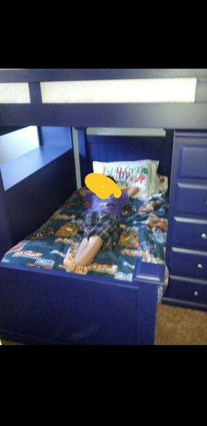 Kids Modular Bed (Blue) Bunk Bed Desk Dresser for Sale in Huntington Beach, CA
