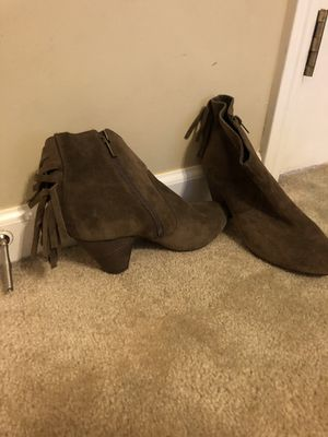 Jessica Simpson Brown Suede Fringe booties for Sale in Fuquay-Varina, NC