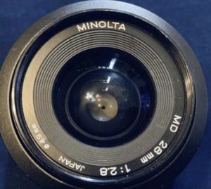 Minolta Camera Lens 28mm for Sale in Issaquah, WA