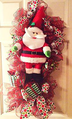 Deco Mesh Santa Clause Swag for Sale in Gerrardstown,  WV
