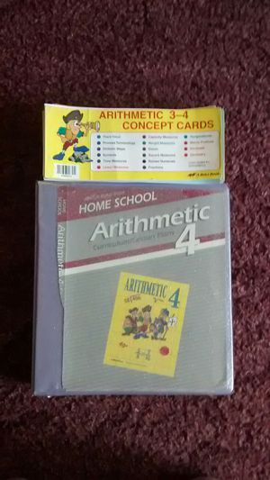 Abeka 4 the grade arithmetic curriculum and cards for Sale for sale  San Antonio, TX