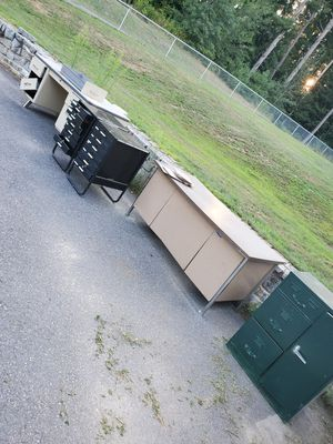 Aluminum desk and drawers for Sale in Groton, MA