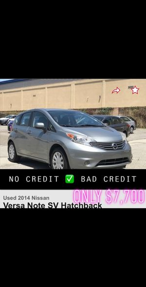 2014 Nissan Versa note sv gray bad credit finance lease car dealer uber lyft clean title automatic for Sale in Long Beach, CA