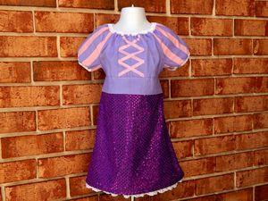 3T Rapunzel - Tangled Sequin Peasant Dress for Sale in Davenport, FL