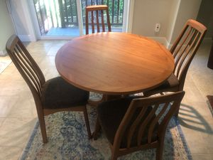 Ethan Ellen Danish Teak Kitchen dinning 4 sitter. 3 sitter sofa. Single seat sofa. for Sale in Sherwood, OR