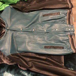 Men Leather Jacket/ sweater hoodie for Sale in San Leandro, CA