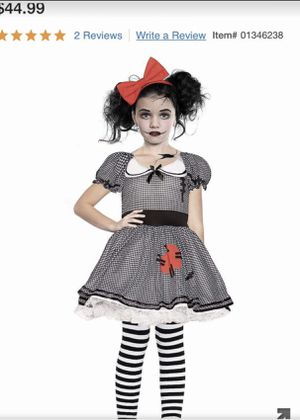 Wind up doll girls Halloween costume size 8 for Sale in San Diego, CA