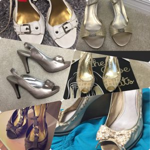 Six pairs of size 8 designer women's shoes for Sale in Tampa, FL