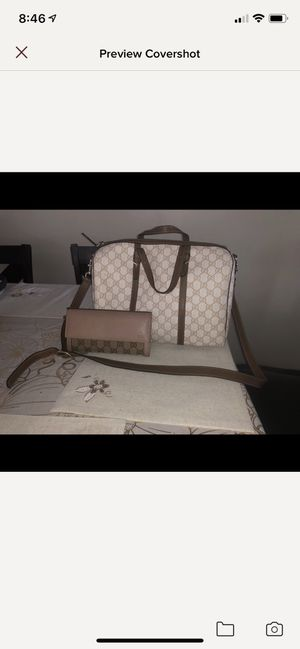 Gucci top handle with matching wallet for Sale in North Arlington, NJ