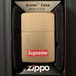 SUPREME BOX LOGO ZIPPO LIGHTER GOLD for Sale in Fairfax, VA