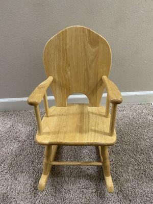 Kids wooden rocker chair for Sale in Englewood, CO