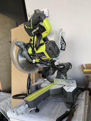 RYOBI 7-1/4 in. Sliding Miter Saw for Sale in South El Monte, CA