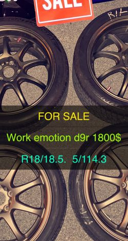 Work Emotion D9R 18-18.5 114.3 for Sale in Annapolis,  MD