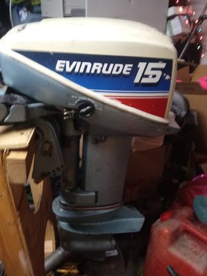 1980 evinrude 15hp short shaft outboard motor for Sale in Everett, WA
