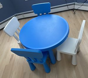Kids ikea table with 4 chairs for Sale in Boston, MA
