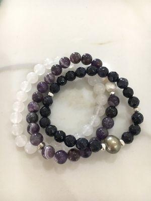 Amethyst Pearl set of 3 Bracelets! for Sale in Dallas, TX