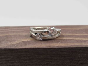 Size 7 Sterling Silver Rustic CZ Diamond Band Ring Vintage Statement Engagement Wedding Promise Anniversary Bridal Cocktail Friendship for Sale in Lynnwood, WA