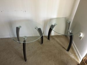Glass End Tables (2) for Sale in MONTGOMRY VLG, MD