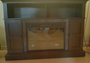 TV stand/bookcase/ Electric fireplace for Sale in US