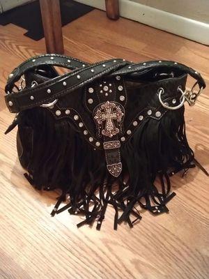 PRICE REDUCED!!! Black Fringed Purse for Sale in Wichita, KS