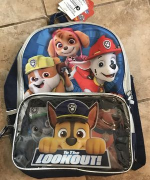 Paw 🐾 Patrol Backpack 🎒 W/ Insulated Lunchpack!!!!🎈🎈🎈🎈🎈 for Sale in Lutz, FL
