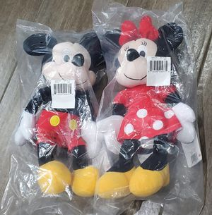 """Mickey Mouse and Minnie Mouse Kohl's Cares Stuffed Plush 14"""" Figures for Sale in Spring, TX"""