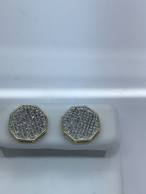 Gold diamond earrings new for Sale in Renton, WA