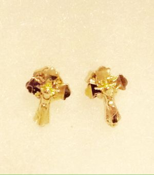 10k gold tiny baby earrings for Sale in Las Vegas, NV
