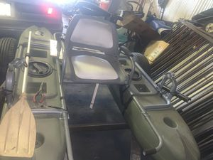 One person fishing boat pontoon with trolling motor...low ballers will be ignored.. trailer not included for Sale in Fort Worth, TX