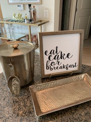 Eat Cake For Breakfast Bar Cart Sign with Stand for Sale in Washington, DC
