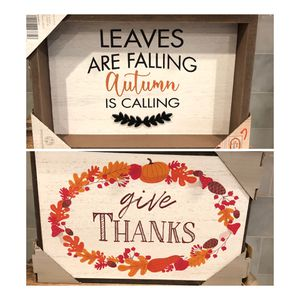 Reversible Box Sign Fall & Thanksgiving for Sale in Miami, FL