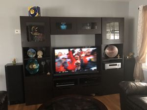 TV STORAGE COMBINATION WITH GLASS for Sale in Lanham, MD