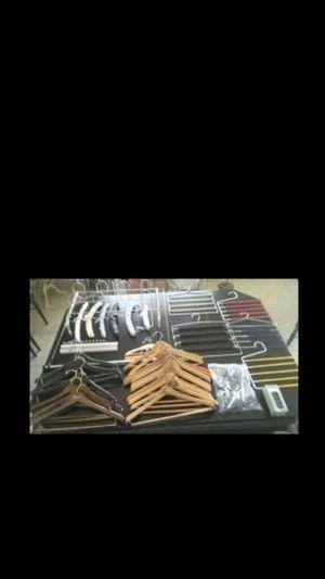 CLOSET BUNDLE! Tons of high end hangers , shoe rack , closet space maker extension bar , mounting slide out organizer , tier hangers for Sale in Phoenix, AZ