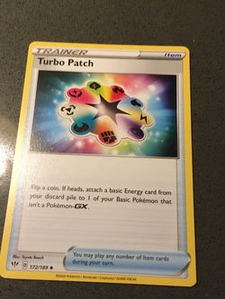 Turbo Patch Pokémon card rare for Sale in Mercer Island,  WA
