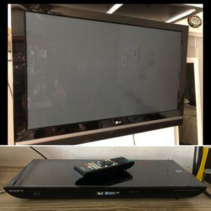 50 inch LG plasma flat screen TV with Blu-ray DVD player for Sale in Irwindale, CA