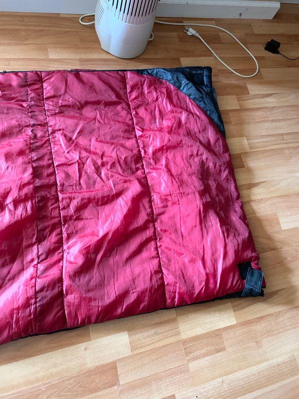 Red and black Sleeping bag