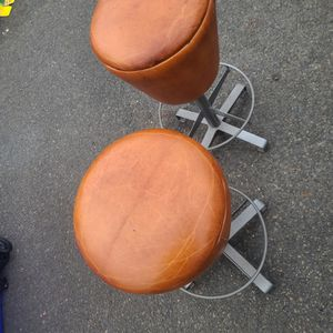 Mcm Leather Bar Stools Mid Century Chairs for Sale in Brick Township, NJ