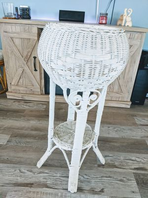 Wicker plant stand for Sale in Carmichael, CA