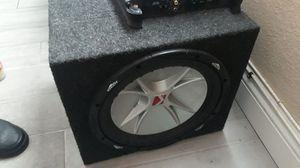 12 inch Kicker & 500w Alpine Amp for Sale in Las Vegas, NV