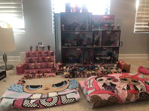 Lol house and play house. This comes with well over 150 dolls and pets. Plus a lot of accessories. $800 for Sale in Scottsdale, AZ