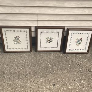 Framed Needlepoint for Sale in Lombard, IL