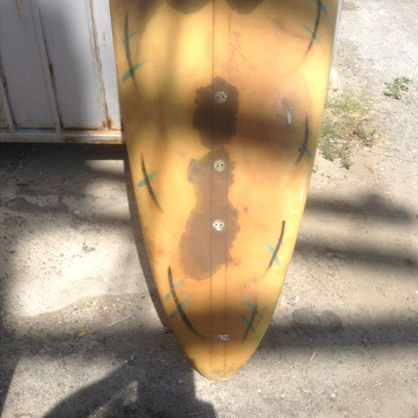 Vintage WAVE TOOLS Surfboard /kite board/etc. Almost 9' long and thick.LIMITED TIME FREE WETSUIT WITH BOARD PURCHASE