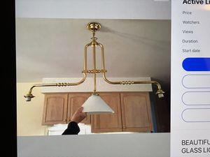 Beautiful kitchen Three Light White Glass Fixture for Sale in Fulton, MD
