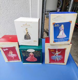 Collectable Barbie Xmas Ornaments for Sale in Dublin, CA