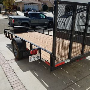 2019 6.5 X 14 Carson Utilty Trailer With Ramp for Sale in Adelanto, CA