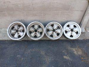 Porsche 911 Fuchs alloy wheels 15x7 and original 15x6 flats for Sale in Montebello, CA