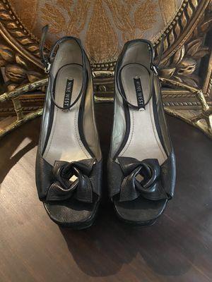 NINE WEST Black/Suede Leather Platform Heel for Sale in Spring, TX